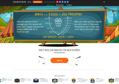 Casino-x Deposit Bonus