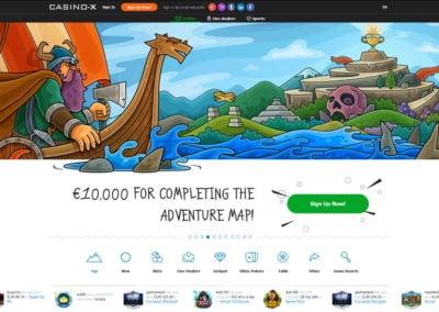 Casino-x Landing Page