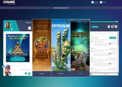 Chanz Casino Social Page