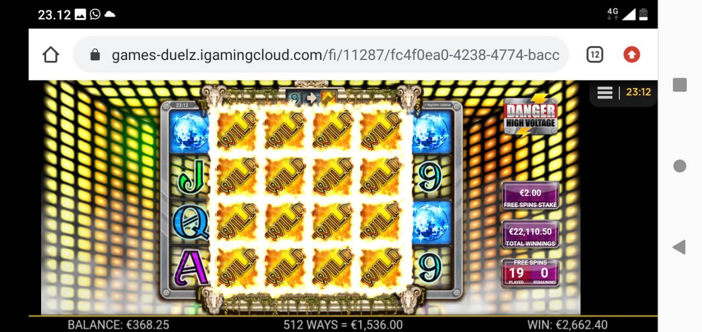 Danger High Voltage Casino win picture by Japemaki 19.5.2020 22110.50e 11055X