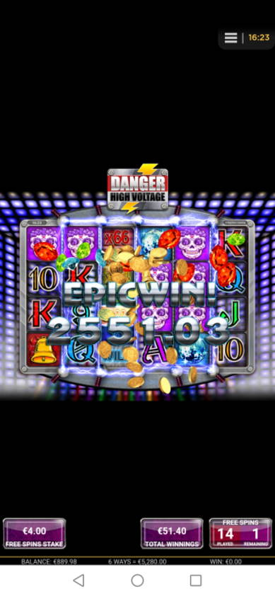 Danger High Voltage Casino win picture by Jyrkkenkloppi 1.5.2020 5280e 1320X