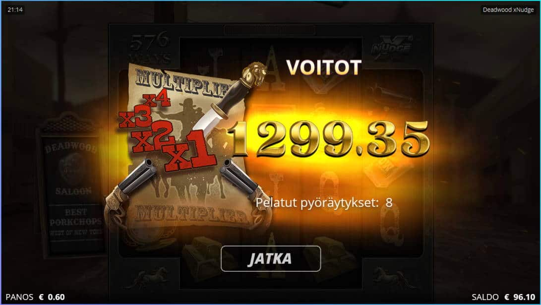 Deadwood Casino win picture by Kari Grandi 7.5.2020 1299.35e 2166X