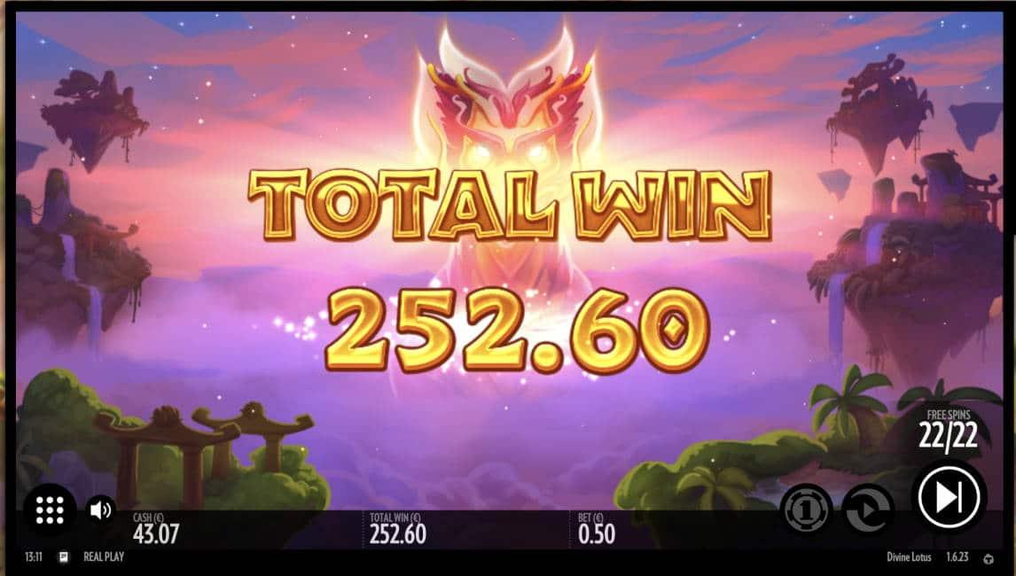 Divine Lotus Casino win picture by timmir84 30.4.2020 252.60e 505X