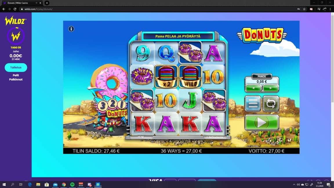 Donuts Casino win picture by jiipee 3.5.2020 27e 540X Wildz