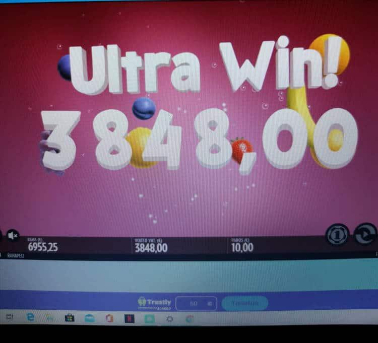Fruit Warp Casino win picture by Jyrkkenkloppi 7.5.2020 3848e 385X