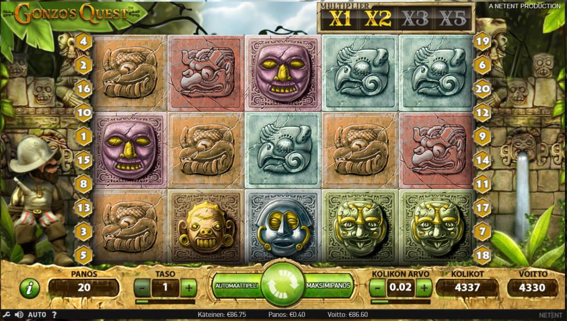 Gonzos Quest Casino win picture by Kari Grandi 26.5.2020 86.60e 217X