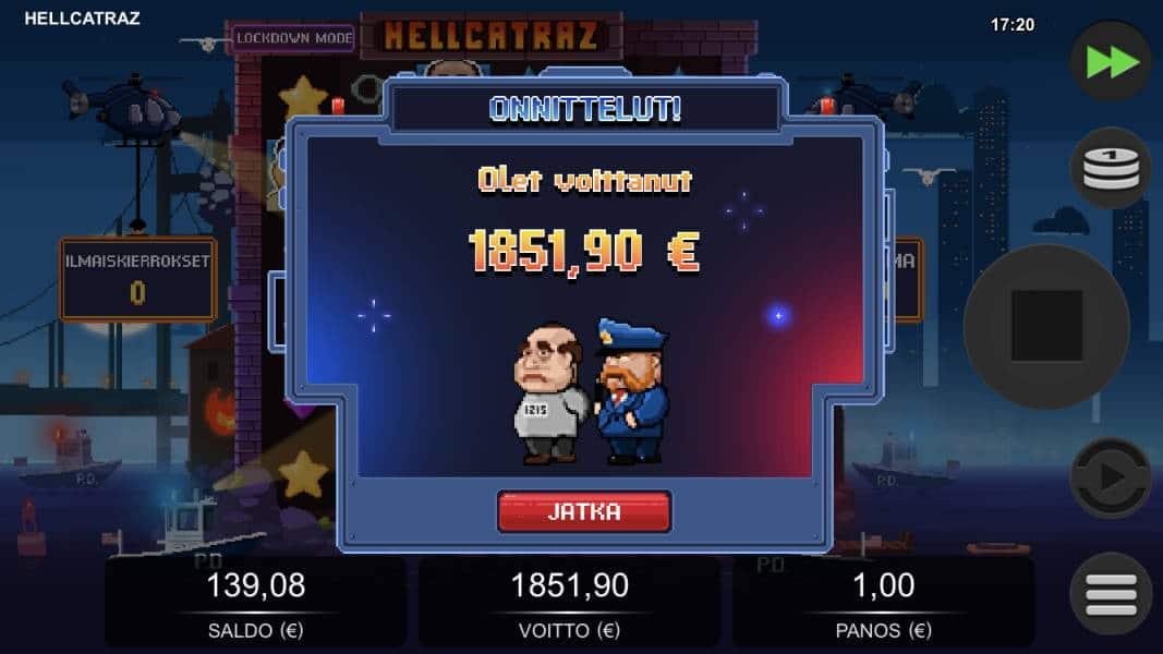 Hellcatraz Casino win picture by Sherraak 19.5.2020 1851.90e 1852X