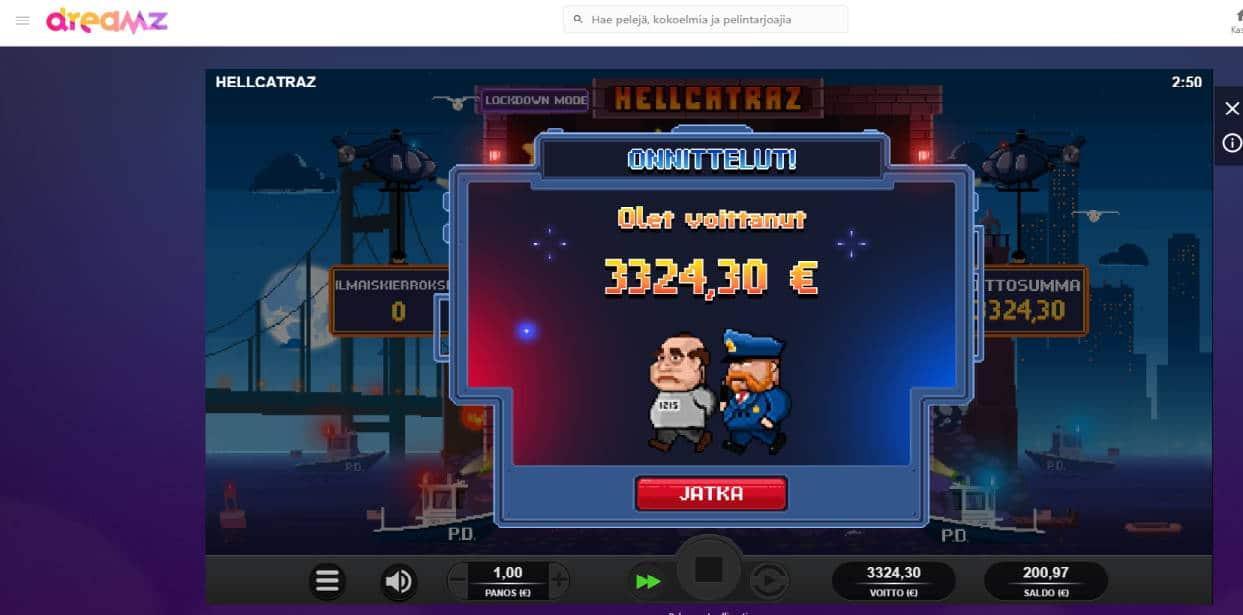 Hellcatraz Casino win picture by Sherraak 23.5.2020 3324.30e 3324X