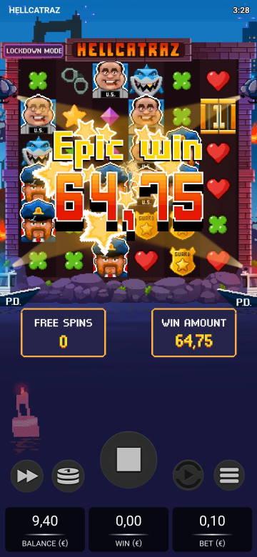 Hellcatraz Casino win picture by jiipee 7.5.2020 64.75e 648X