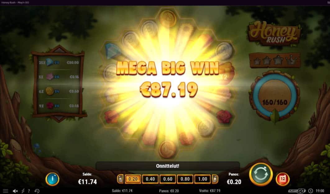 Honey Rush Casino win picture by Banhamm 27.5.2020 87.19e 436X