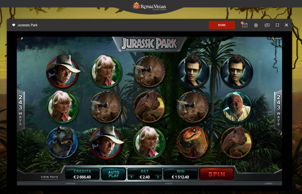 Jurassic Park Casino win picture by Klaspetterniklas 18.5.2020 1512.40e 630X Royal Vegas