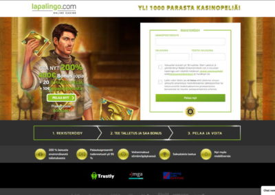 Lapalingo Casino Landing Page