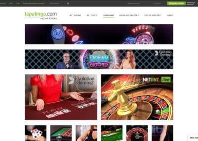 Lapalingo Casino Live Casino
