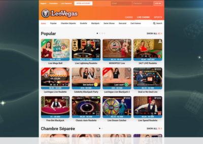 LeoVegas Casino Live Casino