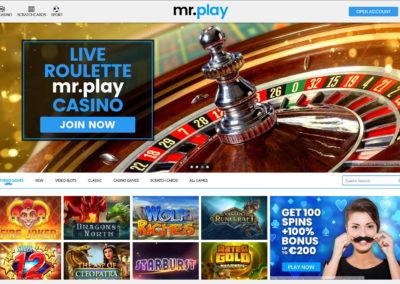 MrPlay Casino Lobby