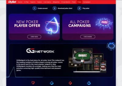 Olybet Casino Poker room GGnetwork