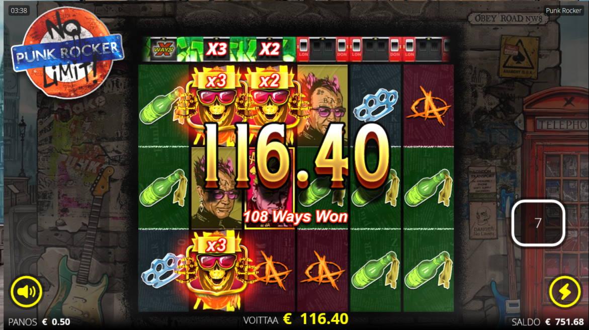 Punk Rocker Casino win picture by Kari Grandi 3.5.2020 116.40e 233X