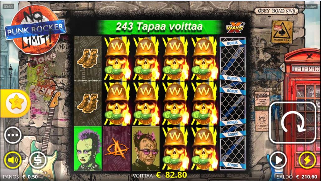 Punk Rocker Casino win picture by Kari Grandi 9.5.2020 82.80e 166X