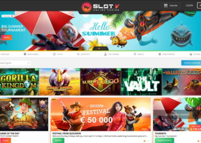 SlotV Casino Lobby