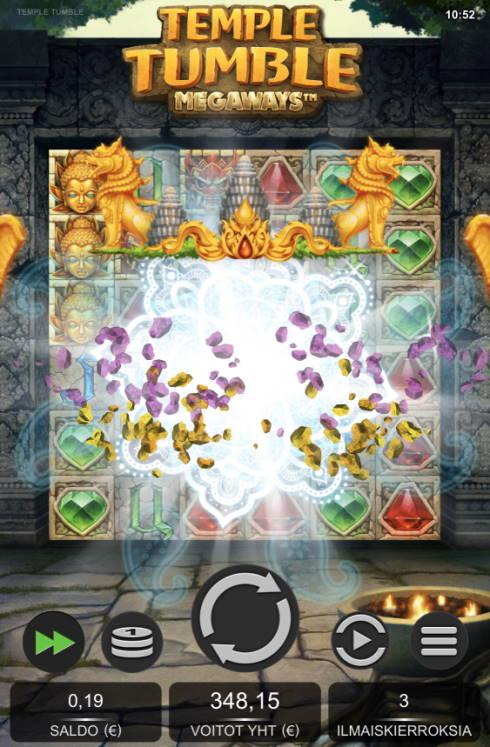 Temple Tumble Megaways Casino win picture by sonefinland 16.5.2020 348.15e 1741X