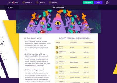 VulkanBet Casino Loyalty Program