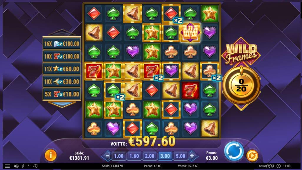 Wild Frames Casino win picture by Klaspetterniklas 24.5.2020 597.60 199X
