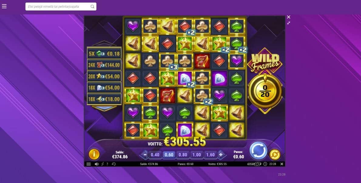 Wild Frames Casino win picture by houseri 23.5.2020 305.55e 509X
