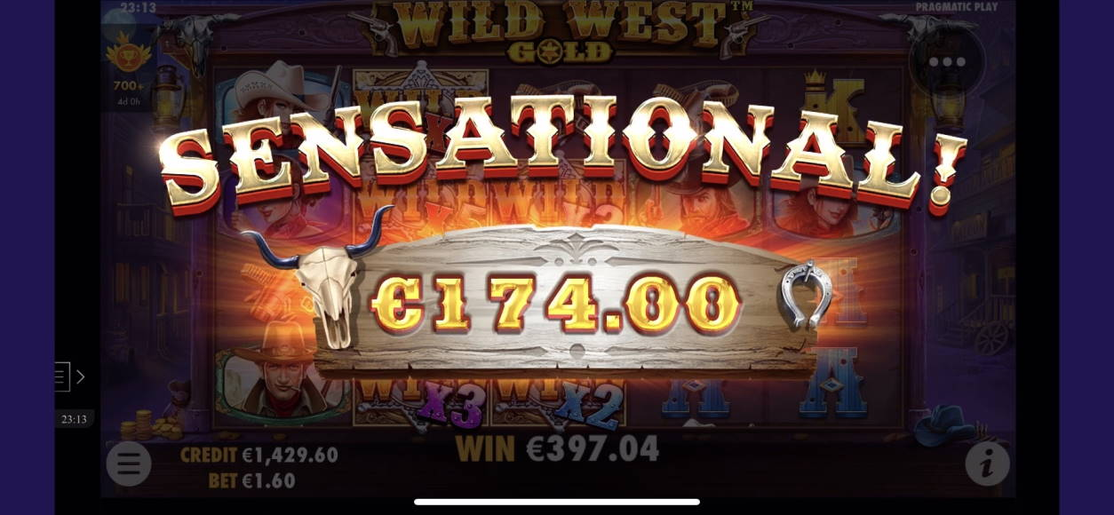 Wild West Gold Casino win picture by livewithoutlimits1986 3.5.2020 397.04e 248X