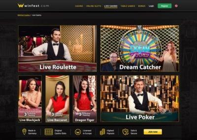 Winfest Casino Live Casino