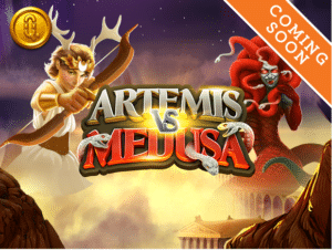 Artemis vs Medusa slot logo
