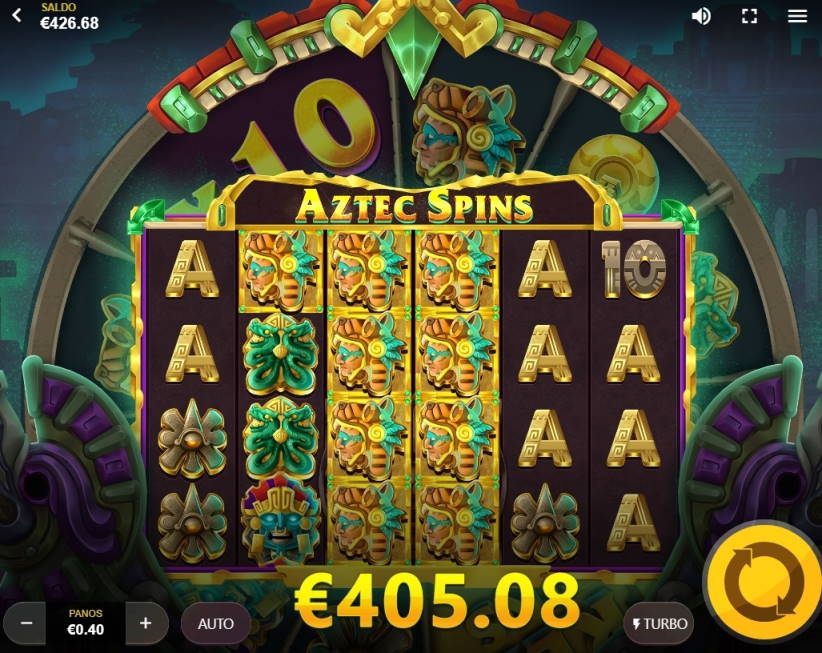 Aztec Spins Casino win picture by Rektumi 29.5.2020 405.08e 1013X