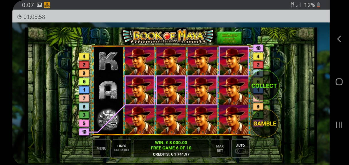 Book of Maya Casino win picture by Shorty 4.6.2020 8000e 500X