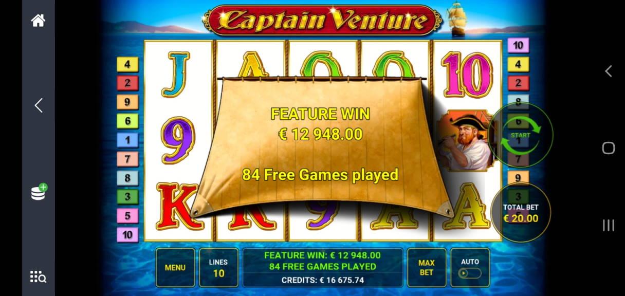 Captain Venture Casino win picture by Shorty 5.6.2020 12958e 647X