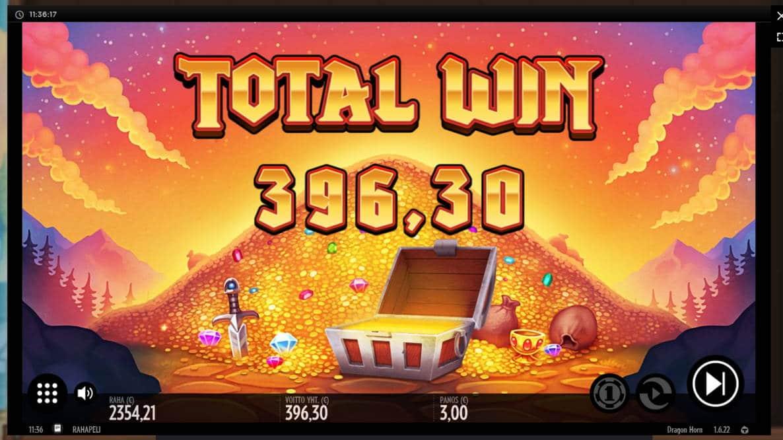 Dragon Horn Casino win picture by Klaspetterniklas 24.5.2020 396.30e 132X