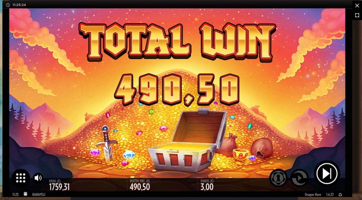 Dragon Horn Casino win picture by Klaspetterniklas 24.5.2020 490.50e 164X