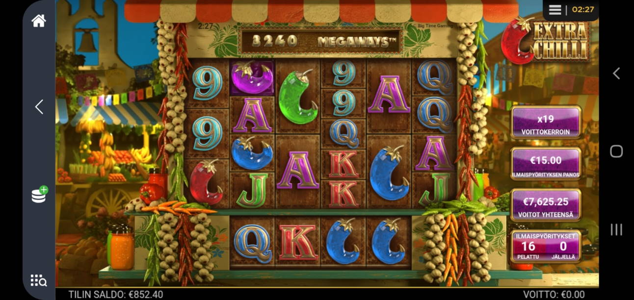Extra Chilli Casino win picture by Shorty 5.6.2020 7625.25e 508X