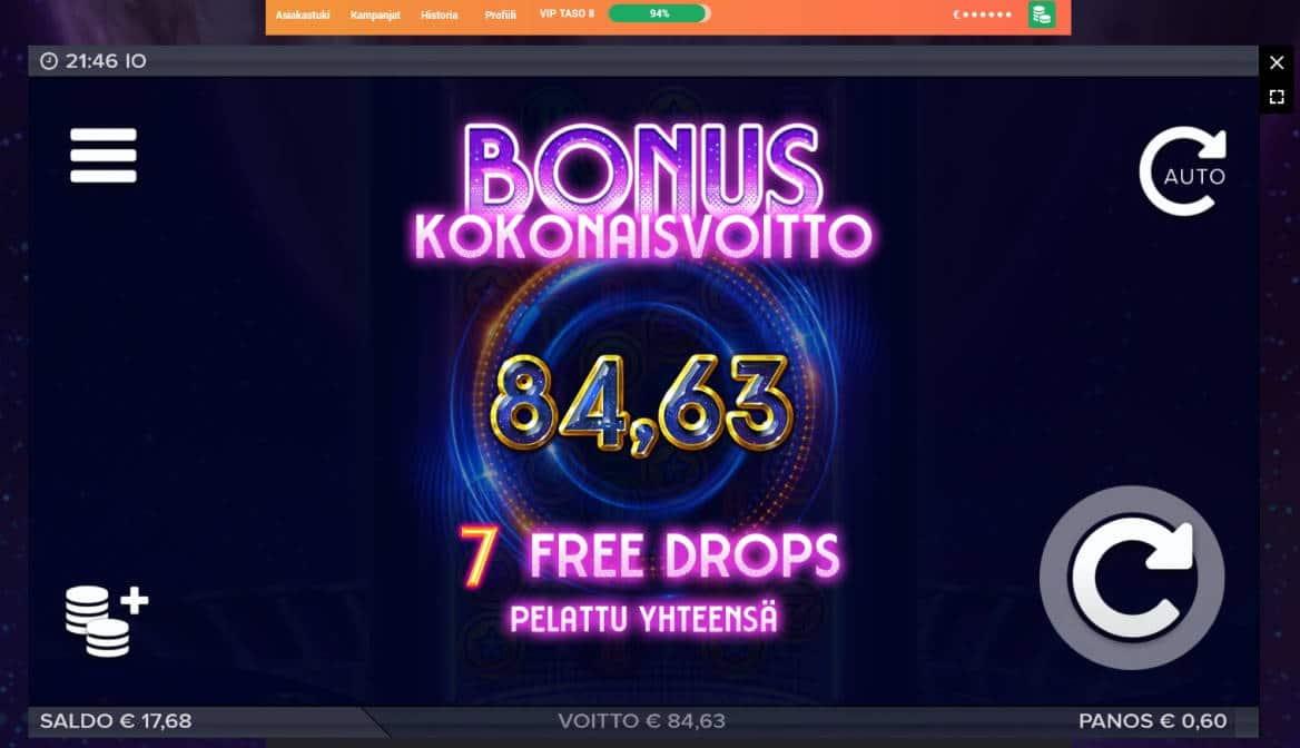 Io Casino win picture by MrMork666 1.6.2020 84.63e 141X LeoVegas
