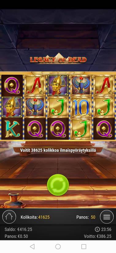 Legacy of Dead Casino win picture by SJaN 19.6.2020 386.25e 773X