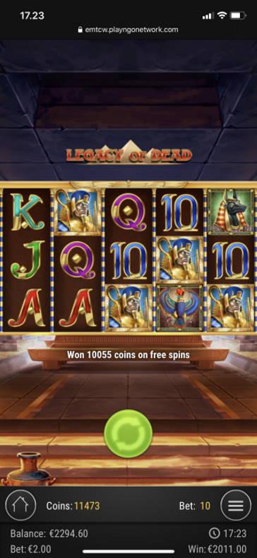 Legacy of Dead Casino win picture by vesselis 14.6.2020 2011e 1006X