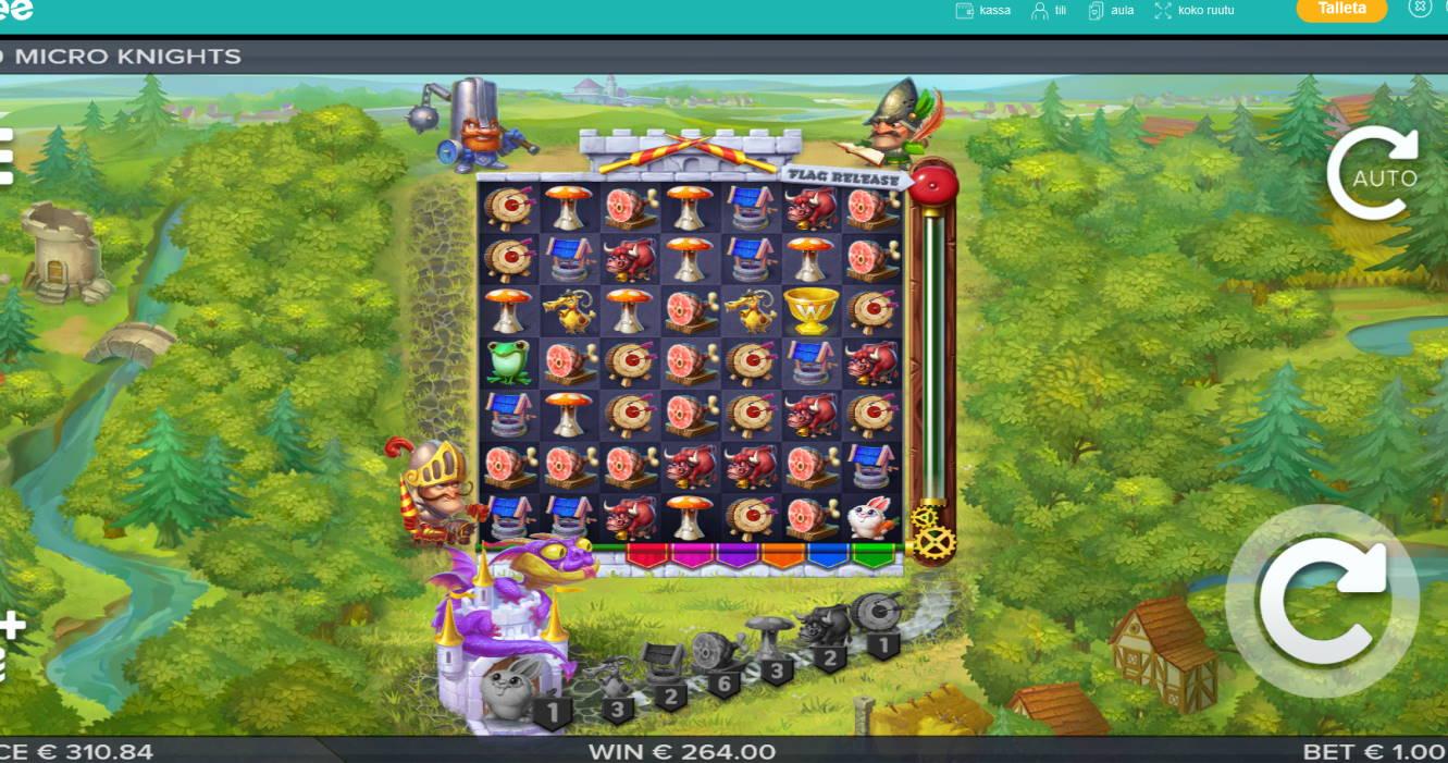 Micro Knights Casino win picture by Klaspetterniklas 29.5.2020 264e 132X Playzee