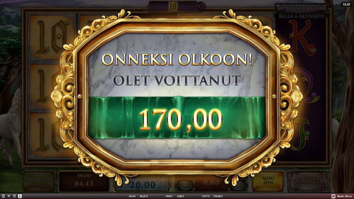 Mystic Mirror Casino win picture by Kari Grandi 15.6.2020 170e 213X
