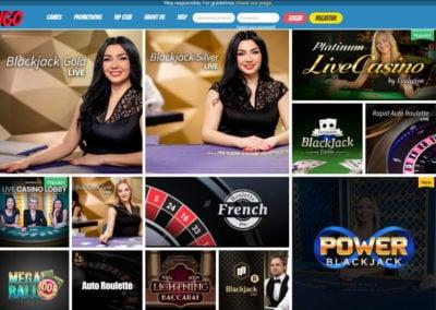 Playjango Live Casino Games