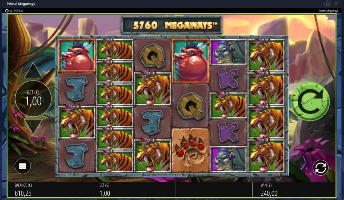 Primal Megaways Casino win picture by Mrmork666 16.6.2020 240e 240X Vulkan Vegas