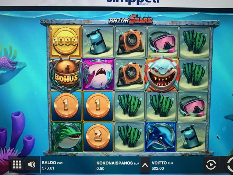 Razor Shark Casino win picture by vesselis 8.6.2020 502e 1004X Simppeli