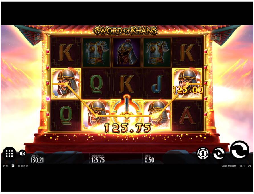 Swords of Khans Casino win picture by Kari Grandi 15.6.2020 125.75e 252X