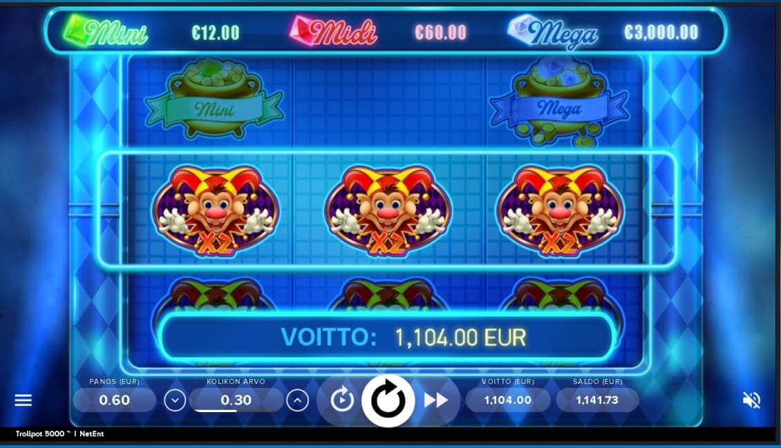 Trollpot 5000 Casino win picture by bluewhalew 9.6.2020 1104e 1840X