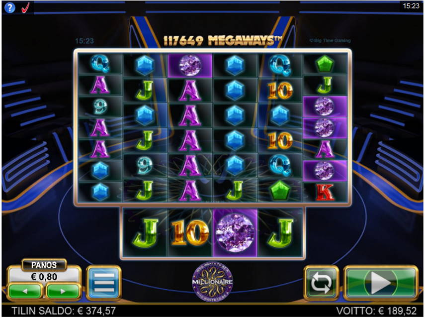 Who Wants to be a Millionaire Casino win picture by Kari Grandi 15.6.2020 189.52e 237X