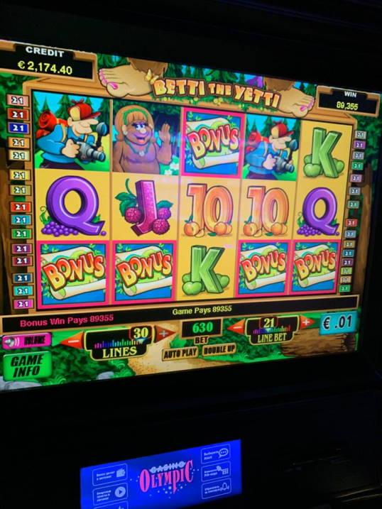 Betti the Yetti Casino win picture by Pottijussi 19.7.2020 893.55e 142X Olympic Casino