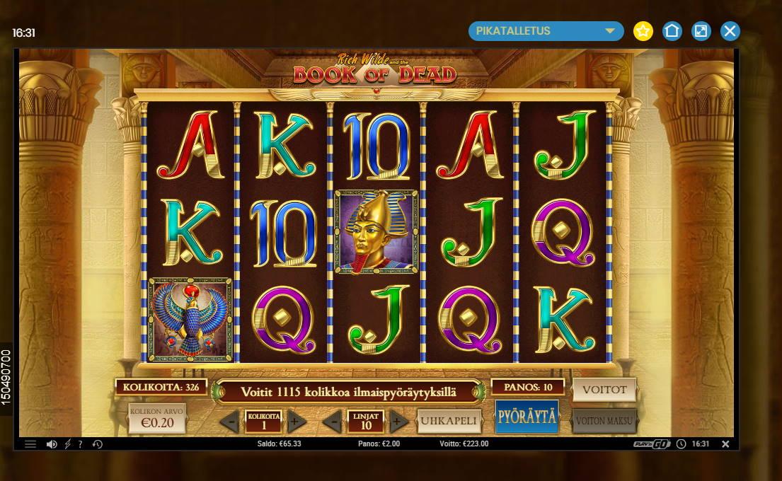 Book of Dead Casino win picture by Banhamm 24.6.2020 223e 112X