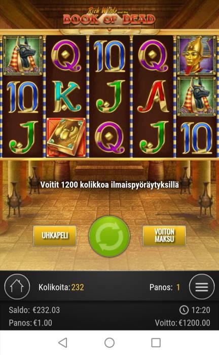 Book of Dead Casino win picture by jyrkkenkloppi 9.7.2020 1200e 1200X